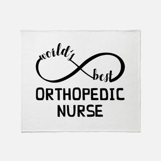 World's Best Orthopedic Nurse Throw Blanket