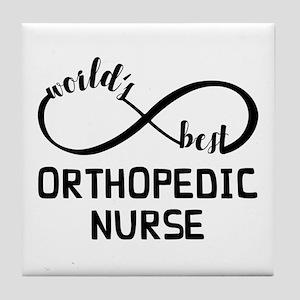 World's Best Orthopedic Nurse Tile Coaster