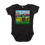TILE-GolfingFROGS2 Baby Bodysuit