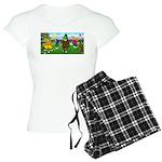 TILE-GolfingFROGS2 Women's Light Pajamas