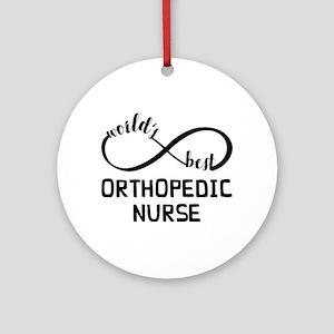 World's Best Orthopedic Nurse Round Ornament