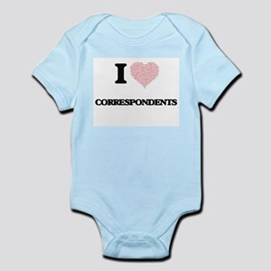 I love Correspondents (Heart made from w Body Suit