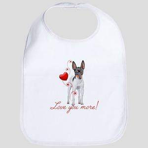 Love You More! Terrier Bib