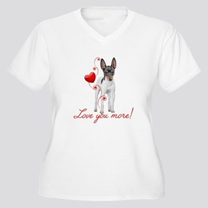 Love You More! Terrier Plus Size T-Shirt