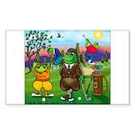 TILE-GolfingFROGS2 Sticker (Rectangle 50 pk)