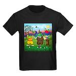 TILE-GolfingFROGS2 Kids Dark T-Shirt