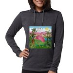 PILLOW-GolfingFLAMINGO2 Womens Hooded Shirt