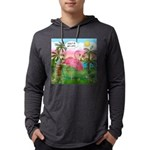 PILLOW-GolfingFLAMINGO2 Mens Hooded Shirt
