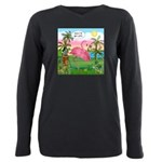 PILLOW-GolfingFLAMINGO2 Plus Size Long Sleeve