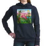 PILLOW-GolfingFLAMINGO2 Women's Hooded Sweatsh