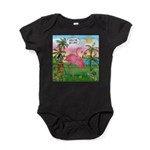 PILLOW-GolfingFLAMINGO2 Baby Bodysuit