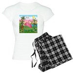 PILLOW-GolfingFLAMINGO2 Women's Light Pajamas