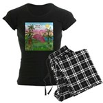 PILLOW-GolfingFLAMINGO2 Women's Dark Pajamas