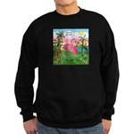 PILLOW-GolfingFLAMINGO2 Sweatshirt (dark)