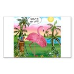 PILLOW-GolfingFLAMINGO2 Sticker (Rectangle 50