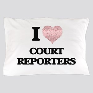 I love Court Reporters (Heart made fro Pillow Case