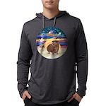 R-XmasStar-GuineaPig3 Mens Hooded Shirt