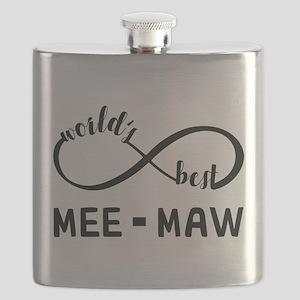 World's Best Meemaw Flask