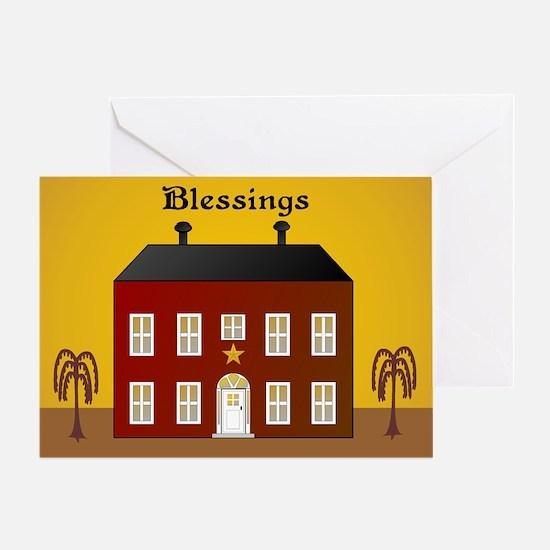Folk Art Home Greeting Card