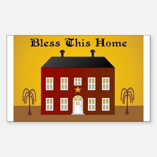 Folk Art Home Rectangle Stickers