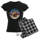 R-XmasStar-GuineaPig3 Women's Dark Pajamas
