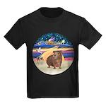 R-XmasStar-GuineaPig3 Kids Dark T-Shirt