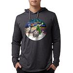 R-XmasMagic-GuineaPig2 Mens Hooded Shirt