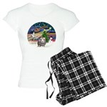 R-XmasMagic-GuineaPig2 Women's Light Pajamas