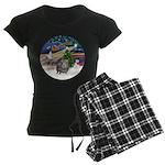 R-XmasMagic-GuineaPig2 Women's Dark Pajamas