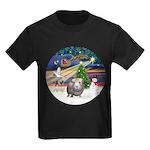 R-XmasMagic-GuineaPig2 Kids Dark T-Shirt