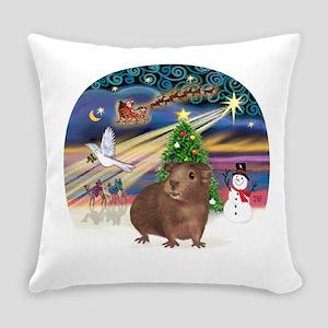 R-XmasMagic-GuineaPig3 Everyday Pillow