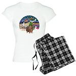 R-XmasMagic-GuineaPig3 Women's Light Pajamas