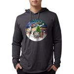 R-XmasMagic-3GuineaPigs Mens Hooded Shirt