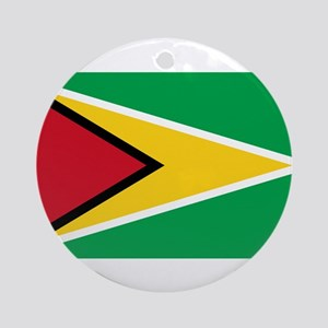Guyana Flag Round Ornament