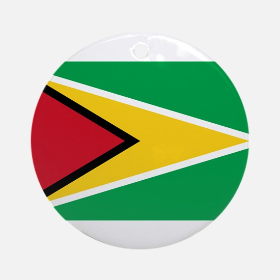 Guyana Flag Round Ornament