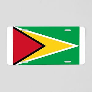 Guyana Flag Aluminum License Plate