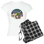 R-XmasMagic-3GuineaPigs Women's Light Pajamas