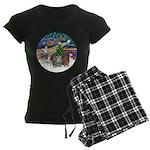 R-XmasMagic-3GuineaPigs Women's Dark Pajamas