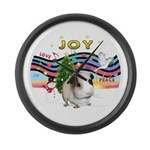 R-XmasMusic1-GuineaPig1 Large Wall Clock
