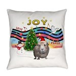 R-XmasMusic1-GuineaPig2-HAT Everyday Pillow