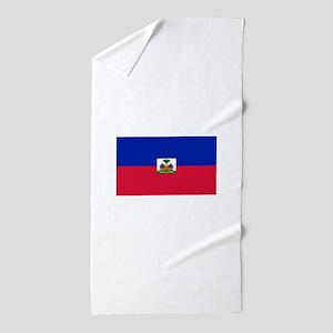 Haiti Flag Beach Towel
