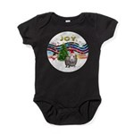 R-XmasMusic1-GuineaPig2-HAT Baby Bodysuit