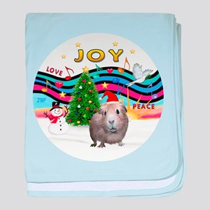 R-XmasMusic1-GuineaPig2-HAT.png baby blanket