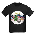 R-XmasMusic1-GuineaPig2-HAT Kids Dark T-Shirt