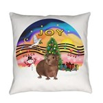 R-XmasMusic2-GuineaPig3 Everyday Pillow