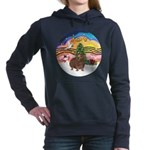 R-XmasMusic2-GuineaPig3 Women's Hooded Sweatsh