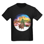 R-XmasMusic2-GuineaPig3 Kids Dark T-Shirt