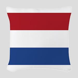 Holland Flag Woven Throw Pillow