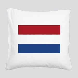 Holland Flag Square Canvas Pillow