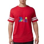 Rainbow Horse Mens Football Shirt